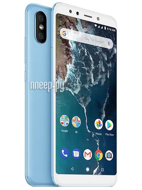 Купить Xiaomi Mi A2 4Gb RAM 64Gb Blue по низкой цене в Москве a06ad13379e41