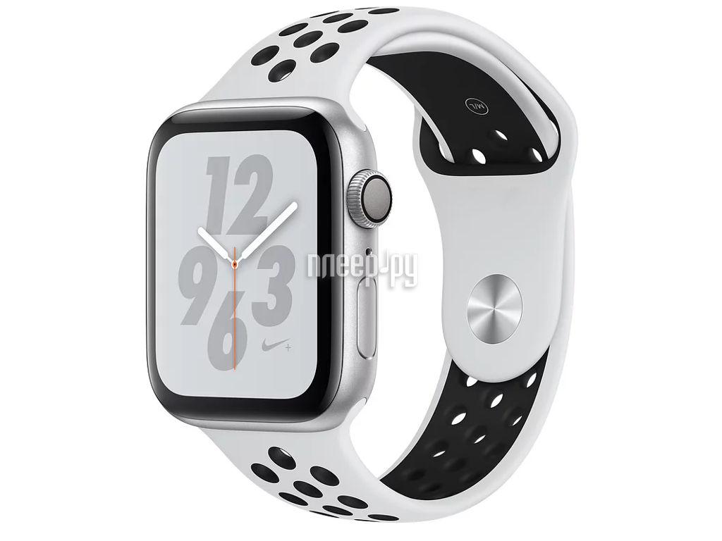 d87505d5 Умные часы APPLE Watch Nike+ Series 4 44mm Silver Aluminium Case with Pure  Platinum-Black