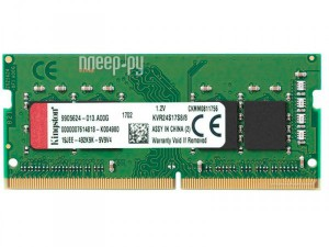 Фото Kingston DDR4 SO-DIMM 2400MHz PC-19200 CL17 - 8Gb KVR24S17S8/8