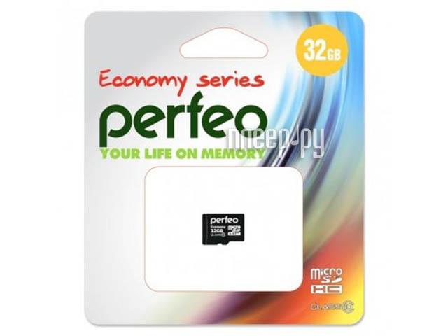 Карта памяти 32Gb - Perfeo Micro Secure Digital HC Class 10 PF32GMCSH10ES (Оригинальная!)[Перейти в каталог этих товаров]