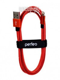 Фото Perfeo USB - Lightning 3m Red I4310