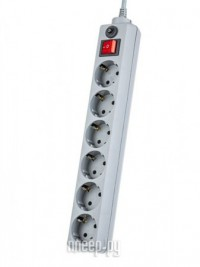 Фото Сетевой фильтр Perfeo Power Plus 6 Sockets 3m Grey PF-PP-6/3.0-G