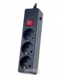 Фото Сетевой фильтр Perfeo Power Plus 3 Sockets 1.8m Black PF-PP-3/1.8-B