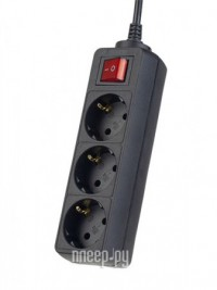 Фото Сетевой фильтр Perfeo Powermate 3 Sockets 3m Black PF-PM-3/3.0-B