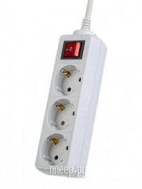 Фото Сетевой фильтр Perfeo Powermate 3 Sockets 1.8m White PF-PM-3/1.8-W