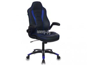 Компьютерное кресло Бюрократ VIKING-2 искусственная кожа Black-Blue 1048791