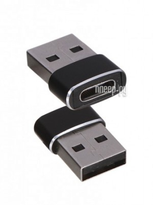 Фото Baseus Type-C Female - USB Male Adapter Converter Black CAAOTG-01