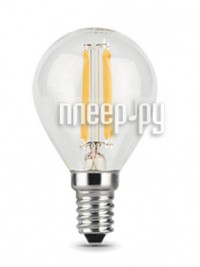 Фото Gauss Filament E14 Шар 7W 550Lm 2700K Step Dimmable 105801107-S