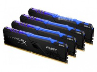 Фото HyperX Fury RGB DDR4 DIMM 3200Mhz PC-25600 CL16 - 32Gb Kit (4x8Gb) HX432C16FB3AK4/32