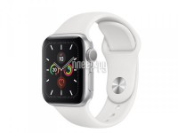 Фото APPLE Watch Series 5 40mm Silver Aluminium with White Sport Band MWV62RU/A