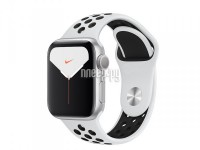 Фото APPLE Watch Nike Series 5 40mm Silver Aluminium with Pure Platinum-Black Nike Sport Band MX3R2RU/A