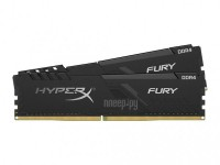 Фото HyperX Fury Black DDR4 DIMM 2666MHz PC4-21300 CL16 - 16Gb KIT (2x8Gb) HX426C16FB3K2/16