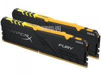 Фото HyperX Fury Black RGB DDR4 DIMM 2400MHz PC-19200 CL15 - 16Gb KIT (2x8Gb) HX424C15FB3AK2/16
