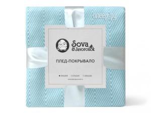 Покрывало Sova&Javoronok Зиг-заг 205x220 Light Blue 27030118816