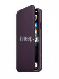 Фото Чехол для APPLE iPhone 11 Pro Max Leather Folio Aubergine MX092ZM/A