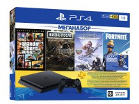 Фото Sony PlayStation 4 1Tb CUH-2208B + DG + GTA V + HZD CE + FT + PS 3 месяца PS719343400