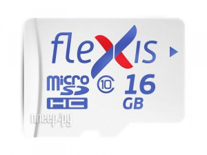 Фото 16Gb - Flexis Micro Secure Digital HC Class 10 UHS-I U1 FMSD016GU1 (Оригинальная!)