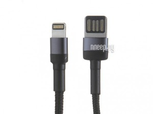 Фото Baseus Cafule Cable USB - Lightning 2.4A 1m Grey-Black CALKLF-GG1