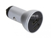Фото Baseus Digital Display Dual USB 4.8A Car Charger 24W Silver CCBX-0S