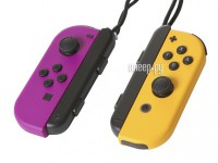 Фото Контроллер Nintendo Joy-Con Neon Purple-Neon Orange