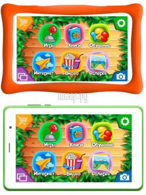 Фото TurboKids 3G Green (ARM Cortex A7 1.3 GHz/1024Mb/16Gb/Wi-Fi/3G/Bluetooth/GPS/Cam/8.0/1280x800/Android 9.0)