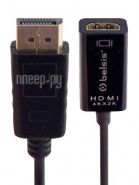 Фото Belsis Display Port - HDMI 0.2m Black BW8802