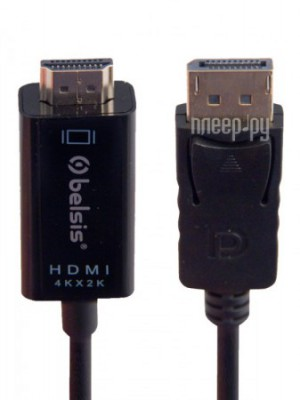 Фото Belsis Display Port - HDMI  1m Black BW8804