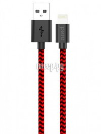 Фото Pero DC-04 USB - Lightning 2A 1m Red-Black PRDC-048P1MRB