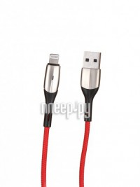 Фото Baseus Horizontal Data Cable With An Indicator Lamp USB - Lightning 2.4A 50cm Red CALSP-A09