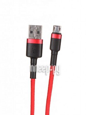 Фото Baseus Cafule Cable USB - MicroUSB 2.4A 1m Red-Black-Red CAMKLF-B09