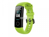 Фото Ремешок DF для Honor Band 4/5 Silicone Green hwClassicband-02