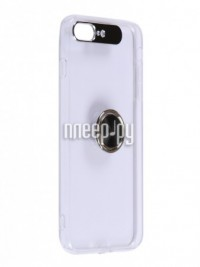 Фото Чехол DF для APPLE iPhone 7 Plus/8 Plus Plastic + Silicone с кольцом-держателем Transparent-Black iTRing-04
