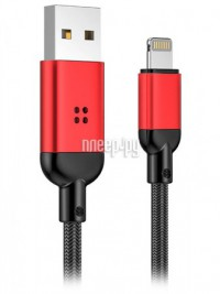 Фото Rock R6 USB - Lightning Metal Charge & Sync Cable 1m Red RCB0760 79189