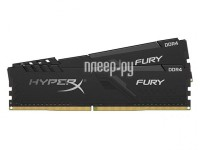Фото HyperX Fury Black DDR4 DIMM 3600Mhz PC28800 CL17 - 32Gb KIT(2x16Gb) HX436C17FB3K2/32