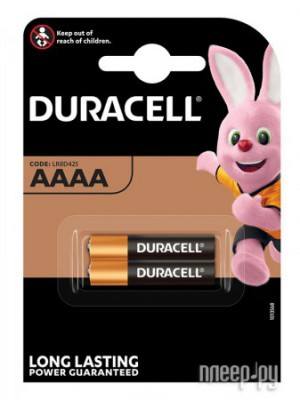 Фото AAAA - Duracell MN2500 (2 штуки) DR AAAA/2BL MN2500