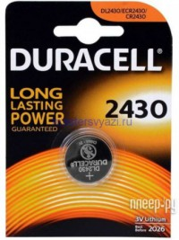 Фото CR2430 - Duracell DR CR2430/1BL
