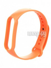 Фото Ремешок Zibelino для Mi Band 5 Silicone Orange ZBS-XIMB5-ORG