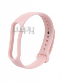 Фото Ремешок Zibelino для Mi Band 5 Silicone Light Pink ZBS-XIMB5-WPNK