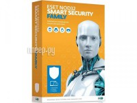 Фото Eset NOD32 Smart Security Family для 3 устройств 1 год Rnwl Box NOD32-ESM-RN(BOX)-1-3