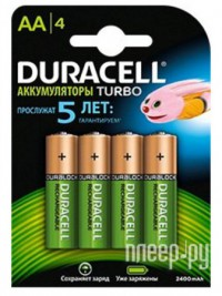 Фото AA - Duracell Recharge Turbo DR AA2500/4BL RT (4 штуки)