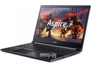 Фото Acer Aspire 7 A715-41G-R7VF NH.Q8LER.008 (AMD Ryzen 5 3550H 2.1 GHz/8192Mb/256Gb SSD/nVidia GeForce GTX 1650 4096Mb/Wi-Fi/Bluetooth/Cam/15.6/1920x1080/Windows 10 Home 64-bit)