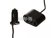 Фото Hoco Z35A Companheiro 1xUSB Cigarette Lighter Socket + 2xUSB Black
