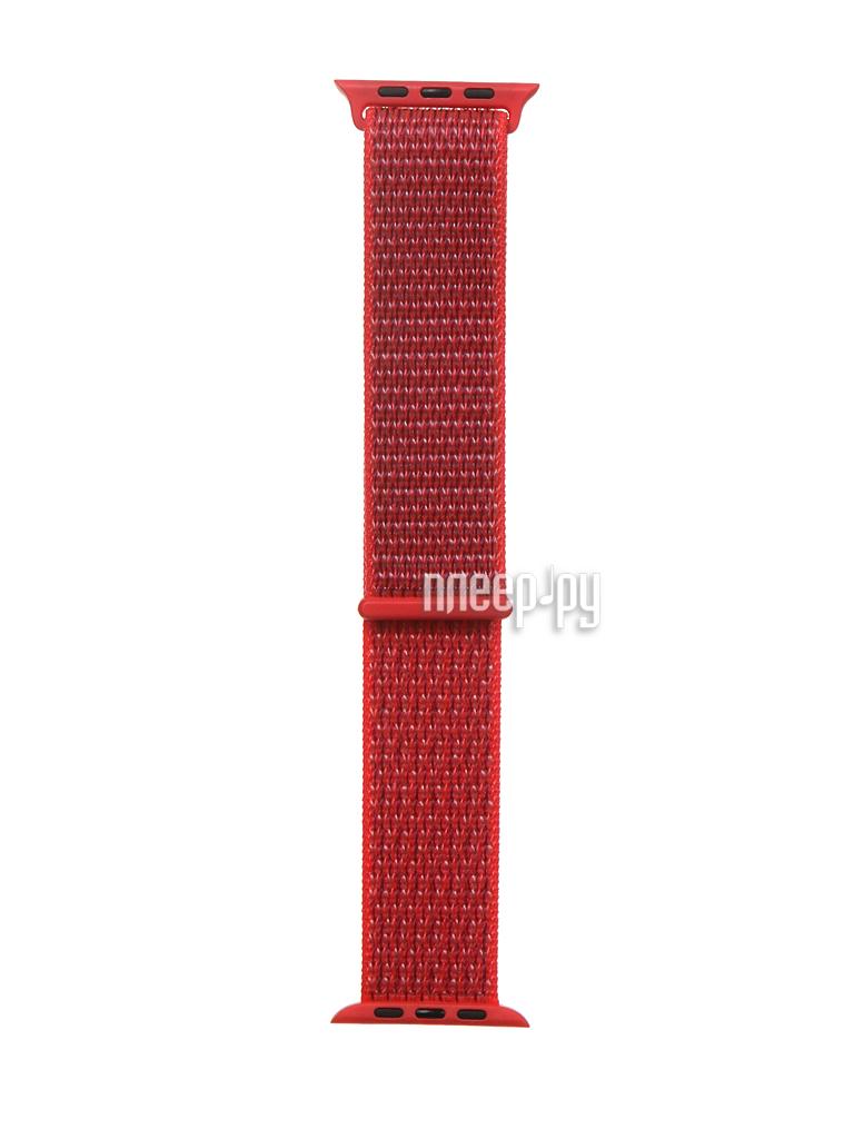Купить Ремешок Bruno для APPLE Watch 42/44mm Nylon Light Red b68690 по низкой цене в Москве - Интернет магазин Плеер.ру