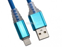 Фото Liberty Project USB - Lightning LED TPE 1m Blue 0L-00038868