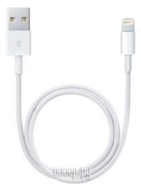 Аксессуар APPLE Lightning to USB Cable 0.5m для iPhone 5 / 5S / SE/iPod Touch 5th/iPod Nano 7th/iPad  4/iPad mini ME291M/B